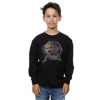 銀河ネオン グルート スウェット シャツのマーベル男子保護者