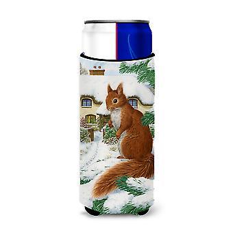 Rode eekhoorn & Cottage Ultra drank isolatoren voor slanke blikjes