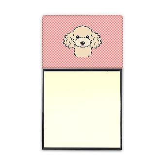 Клетчатый розовый бафф Пудель Refiillable записки владельца или Disp Postit Примечание