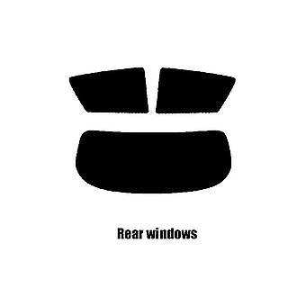 Pre cut window tint - Toyota Corolla 3-door Hatchback - 2001 to 2007 (E120) - Rear windows