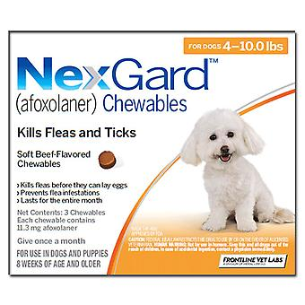 Nexgard Chews for very small (Toy) dogs 2-4kg (4-10lbs), 6 PACK