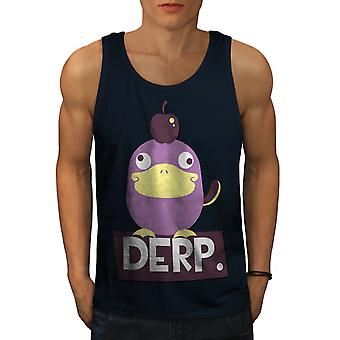 Derp Duck Joke Cool Men NavyTank Top | Wellcoda