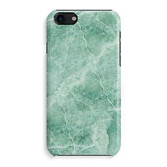 iPhone 7 pełny głowiczki (błyszcząca) - zielony marmur