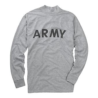Reflective T Shirt Mens Army Top Long Sleeve