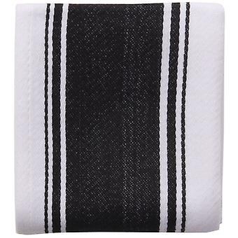 Love Colour Striped Tea Towel, True Black