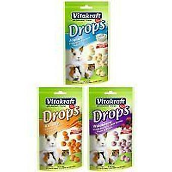 Vitakraft Carrot Sugar Free Drops, Treat for rabbit, ferret, guinea pig 75g