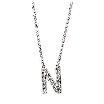 Alfabeto de Orphelia plata 925 N con cadena 40-44 Cm ZK-alfa/N