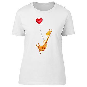 Girafe voler avec ballon Tee femmes-Image de Shutterstock