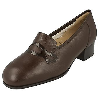 Ladies Dr Scholl Shoes 'Matilda' - Leather - Brown - UK Shoe Size 8