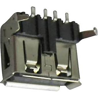 USB A socket Socket, horizontal mount DS1095-BNM0 Connfly Content: 1 pc(s)