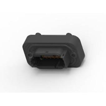 TE Connectivity DTM15-12PA Bullet connector Plug, vertical mount Series (connectors): DTM Total number of pins: 12 1 pc(s)