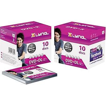Xlyne 4J10000 blank DVD + R DL 8,5 GB 10 PC (er) Jewel saken