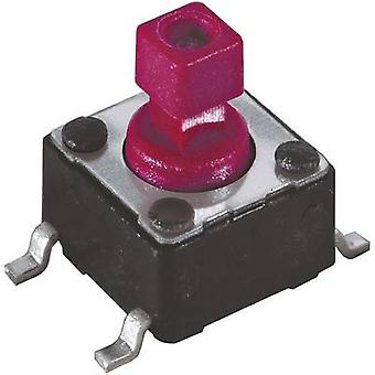 Diptronics DTSM-644R-V-B Pushbutton, Printed switches 12 V DC 0.05 A 1 x Off/(On) momentary 1 pc(s)
