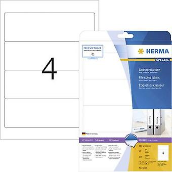 Herma Lever arch file labels 5095 61 x 192 mm Paper White Permanent 100 pc(s)