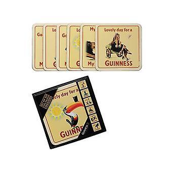 Sześciu Guinness Cork kopii napoje maty / podstawki (stary Ad. Wzorów)
