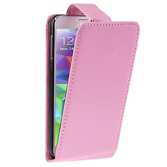 Flip phone pouch case for mobile Samsung Galaxy S5 / S5 neo pink