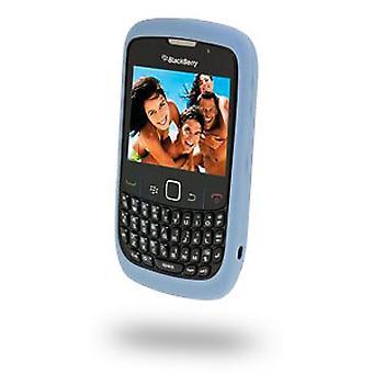 מקרה העור blackberry גומי עבור Blackberry 8500 Curve2 Series-אור כחול בהיר