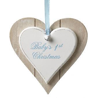 Heaven Sends Baby's 1st Christmas Tree Boys Decoration