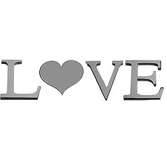 "TRIXES Mirrored 3D ""Love"" Word Wall Art Love Decoration Wall Decal Murals"