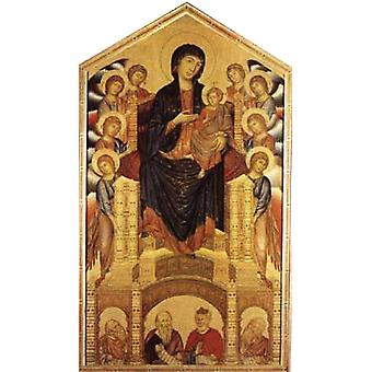 Madonna and Child Enthroned with Angel, Cimabue, 60x40cm