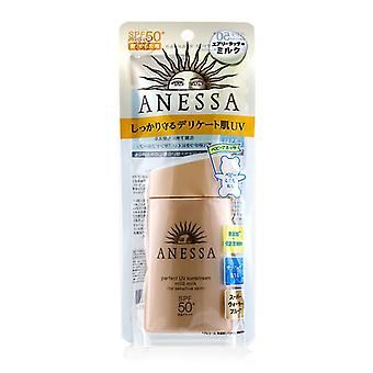 Shiseido Anessa Perfect Uv Sunscreen Mild Milk Spf 50+ (for Sensitive Skin) - 60ml/2oz