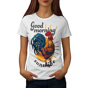 Hyvää huomenta Sunshine naisten WhiteT-paita | Wellcoda