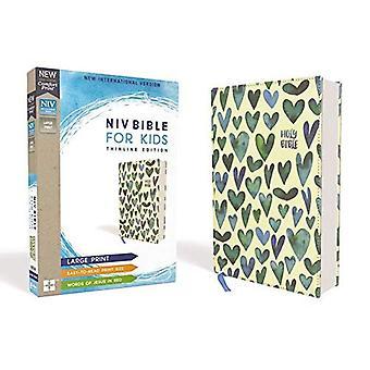 NIV, Bible pour enfants, imprimé à gros caractères, toile sur panneau, Teal, Red Letter Edition, impression de confort: Thinline Edition
