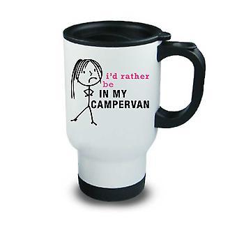 السيدات سأكون في بلادي المعادن Campervan السفر القدح