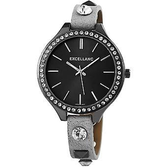 Excellanc 199171600001 pulso relógio quartzo, mulher negra, de pulseira couro sintético,