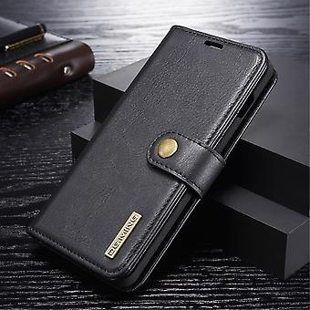 Dg. MING Samsung Galaxy S10 Split leather wallet Case-Black