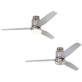 DC Decke Ventilator Aerodynamix Eco gebürstetes Chrom / Silber