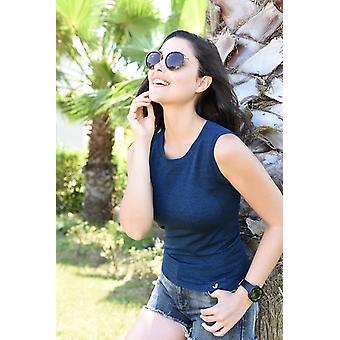 Jerf-womens -nags- Navy Blue- Sleeveless Active Tee Shirt