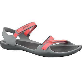 Sandali all'aperto di Crocs W Swiftwater Webbing sandalo 204804-6PK Womens