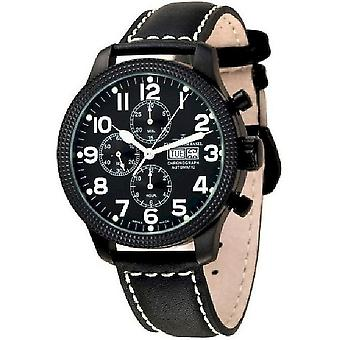 Zeno-horloge mens kijken OS pilot Clou de Paris Chrono zwart 8557TVDD-Xbk-a1