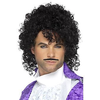 80 år menns parykk i stil med Prince