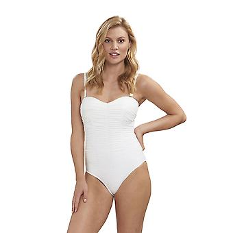 Féraud 3195071-11697 Women's Beach Ivory White Costume One Piece Swimsuit