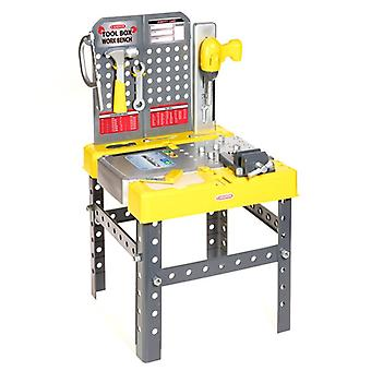 Casdon Little Helper Tool Box Workbench 60 PC's 2 in 1 speeltje geel