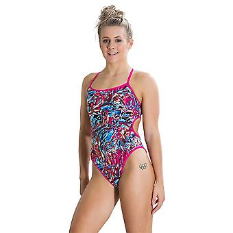 Speedo Waterflow/Fireglam Flip Reverse 1 Piece Swimwear For Girls