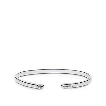 Spelman College Engraved Sterling Silver Diamond Cuff Bracelet