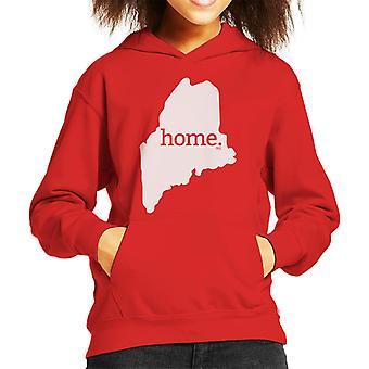 Maine Is My Home Flock Kid's Hooded Sweatshirt