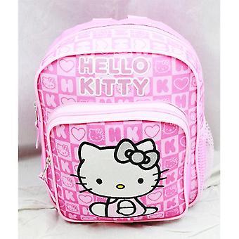 Mini Backpack - Hello Kitty - Pink Box Checker New School Bag Book Girls 82350