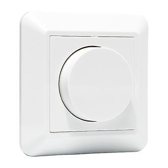 LED Rotary Dimmer Komplett   weiß