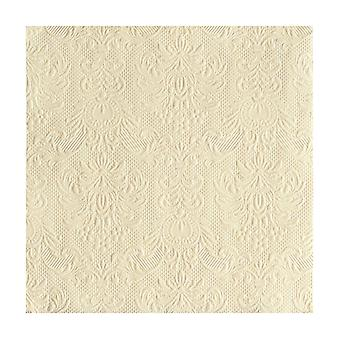 Ambiente 3 Ply Paper Napkins, Elegance Cream