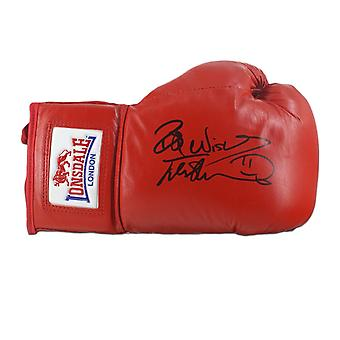 Frank Bruno signiert Boxhandschuh