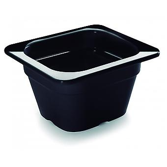Lacor Black melamine contain.gn1/6 176x162x100 (Kitchen , Kitchen Organization , Others)