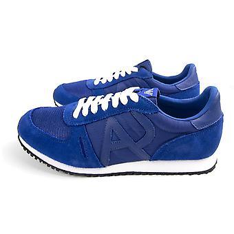 Armani Jeans Mesh Runner Trainers Bleu électrique