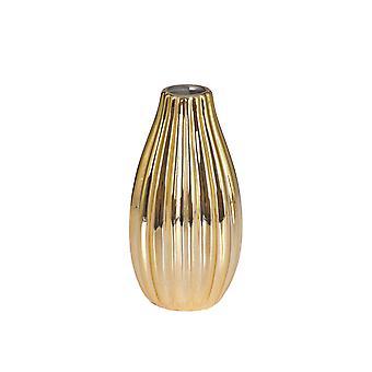 Vase gull-farget keramikk 2-pakning