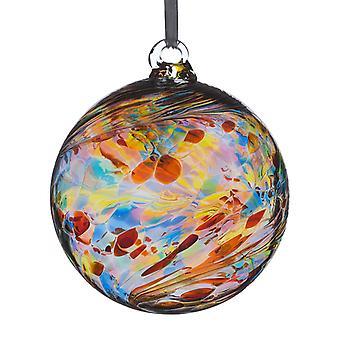 Sienna Glass 8cm Friendship Ball, Multi Coloured