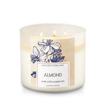 Bad & Body Works Almond 3 Wick Candle 14,5 oz/411 g