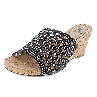 White Mountain Womens AMAL Fabric Open Toe Formal Slide Sandals